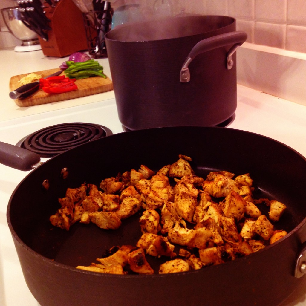 Cooking Cajun Chicken