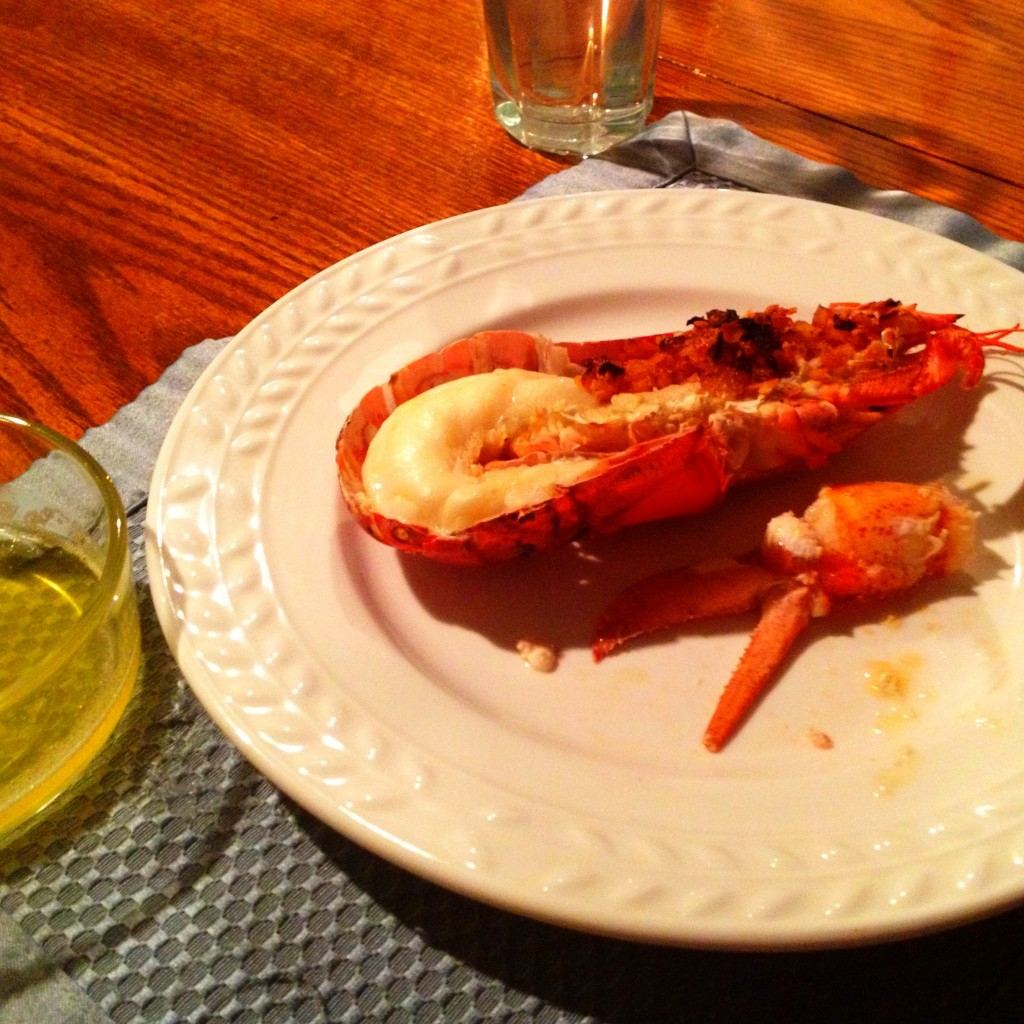 Finished Good Eats Lobster with Lobster Stuffing