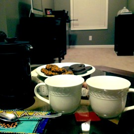 French Pressed Coffee & Girl Scout Cookies + Night In