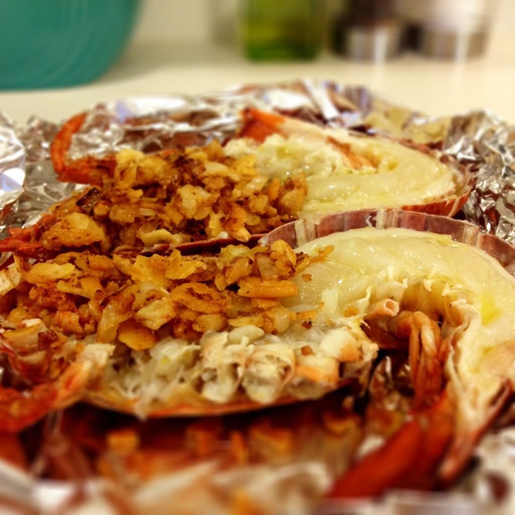Good Eats Lobster with Lobster Stuffing