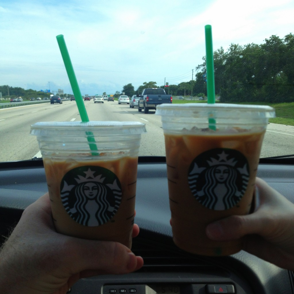$1 Each Starbucks Iced Coffees for Date Night