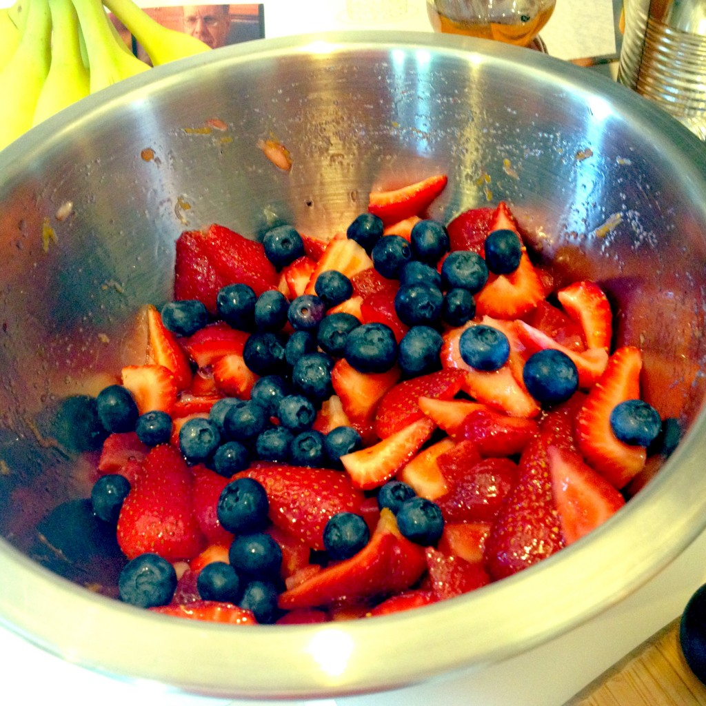 Macerated Berries for Good Eats Strawberry Pudding