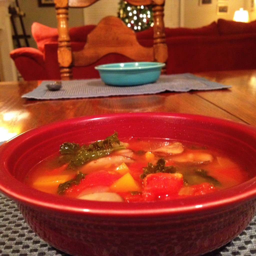 Finished Alton Brown Winter Vegetable Soup