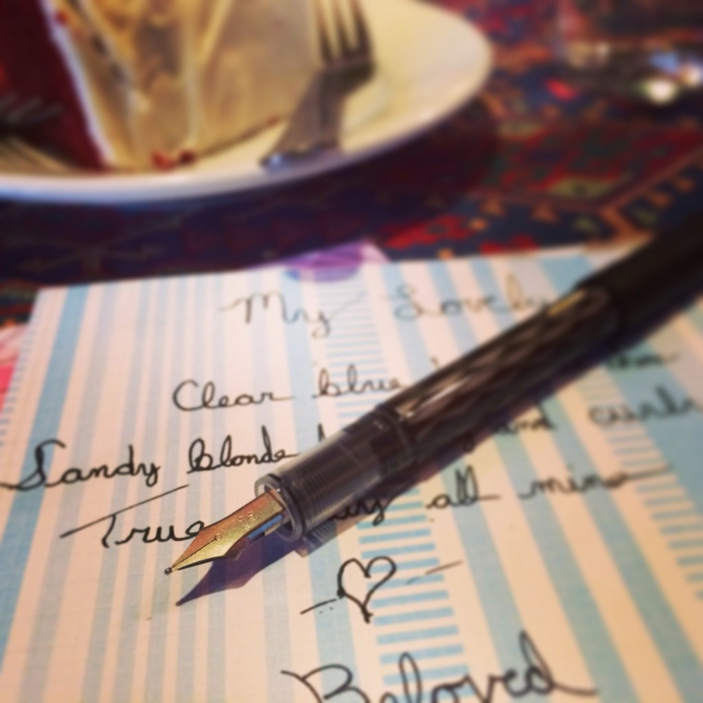Poetry Writing with a Fancy Fountain Pen