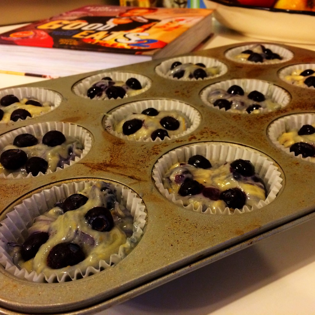 Pre-Baked Good Eats Blueberry Muffins