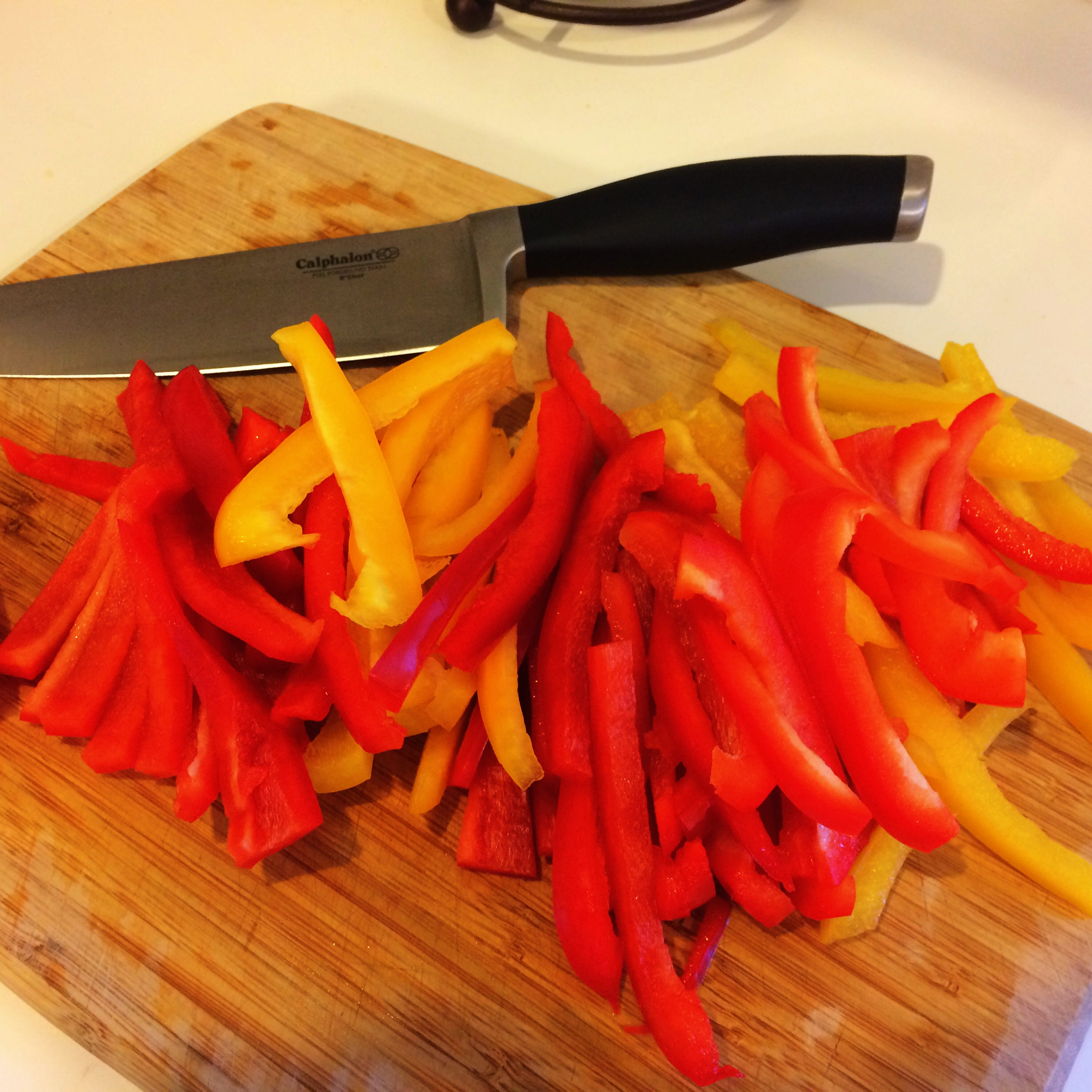 Sliced Peppers for Good Eats Skirt Steak